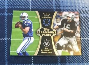 Topps Paramount Pairs Football Card - A Luck & J Plunkett PA-LP