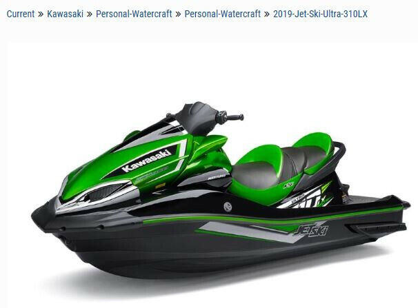 2019 Kawasaki Ultra 310LX Black/Green