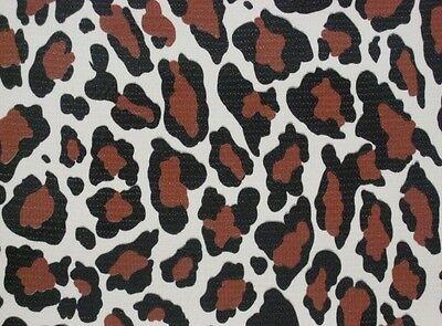JAGUAR BROWN BLACK WILD CAT LEOPARD OILCLOTH VINYL KITCHEN DINE TABLECLOTH 48x84