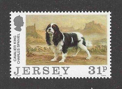Art Body Portrait Postage Stamp Tri CAVALIER KING CHARLES SPANIEL Jersey UK - Spaniel Postage Stamp