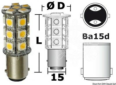 Osculati SMD 12V 20W Equivalent LED Bulb for Spotlights / 264 Lumen