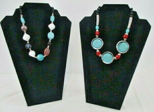 "Two Unique 20"" Turquoise Necklaces"