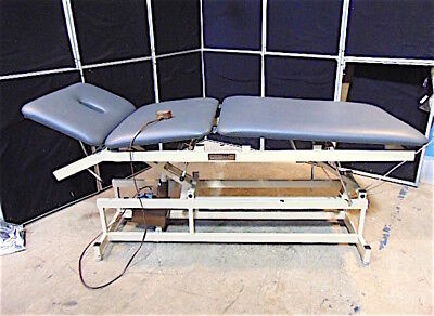 Adapta Ae-3 Treatment Table Hi-lo - Works Good - New Upholstery-19-35 - S3054