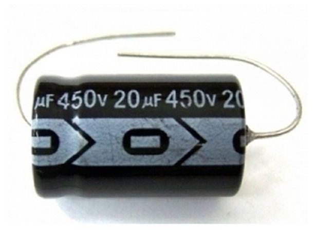 QTY 12 New MIEC 20UF 450V 105C Axial Electrolytic Capacitors