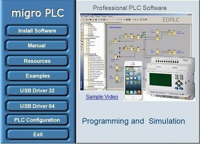 Plc Programming Software Automation Training Logic Simulation Examples Usb