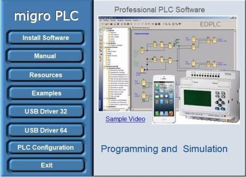 PLC Programming Software Automation, Training, Logic Simulation, Examples, USB