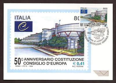 Italia 1999 : Consiglio d'Europa  - Cartolina Ufficiale Poste Italiane