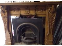 Antique baroque carved fireplace