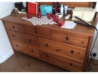 Chest of drawer and wall mirror