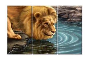Lion Canvas Picture, 3 in 1