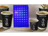 150 McDonald's ultraviolet coffee stickers - free delivery