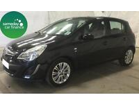 £101.02 PER MONTH BLACK 2011 VAUXHALL CORSA 1.4 SE 5 DOOR PETROL MANUAL