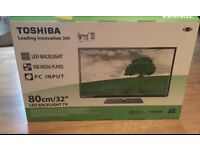 """TOSHIBA 32"""" LED TV MODEL 32W1633DB HD READY 720p WITH FREEVIEW SPEARS"""
