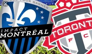 TFC MONTREAL IMPACT SAT AUGUST 25 BELOW FACE +CNE & OTHER GAMES