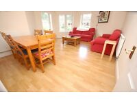 Attractive main door 2 bed flat in Broughton with private balcony, available April – NO FEES