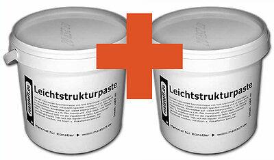 Leichtstrukturpaste 2x1000ml fürÖl- Acryl Farben SPARPACK