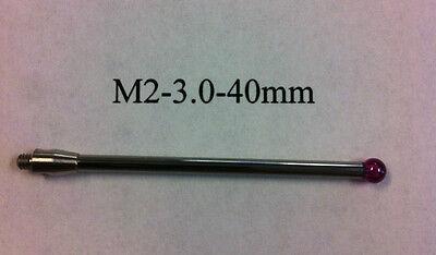 M2 Cmm Stylus Styli  3.0mm Ruby Ball 40mm Length A-5003-0041