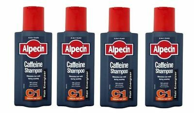 4X ALPECIN CAFFEINE C1 Shampoo Anti Hair Loss Treatment 250ml/8.4 FL oz