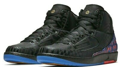 Nike JORDAN 2 Retro BHM Men's Shoe BQ7618-007 Black/Gold sz 9.5-13
