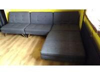chrcol click clack 2xdouble sofa-bed/corner sofa-bed/king-size bed/2xsingle bed/2xlongue/4xarmchair
