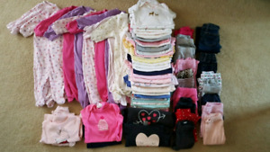 Giant EUC baby girls lot 3-6months! 62 pieces!