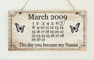 Personalised plaque mum nanny nana auntie grandma gran for What to get grandma for mother s day