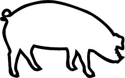 Auto Applikation Aufkleber Fenster Dekor 12-30 cm Schweinchen • SCHWEIN • AP0467