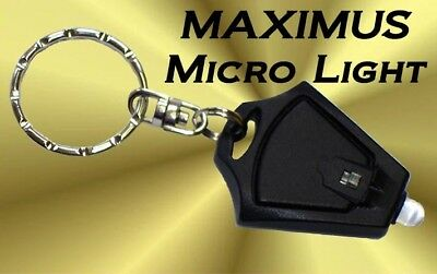 MINI MICRO LIGHT FLASHLIGHT KEYCHAIN LED -Camping Torch Rave Promotional