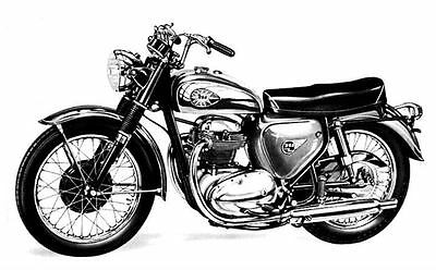 1966 BSA Thunderbolt Motorcycle Photo Poster zc215-KPKKXN