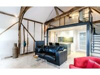 1 bed part-furnished converted barn in pretty rural setting available to let