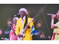 2 x tickets Nile Rodgers and Chic Live at Alnwick Castle