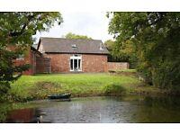 2 bed cottage, stunning location in Quantocks, large living space, wood burner, garden, natural pond