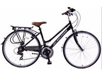 ladies & gentlemans drop down bar Town hybrid bike. *pannier bag included*