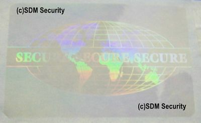 10 Id Badge Or Credit Card Overlay Hologram Te 5006 Security Id Badge Pass