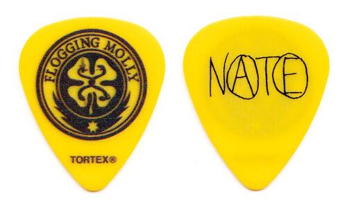 Flogging Molly Nathen Maxwell Signature Yellow/Black Guitar Pick - 2014 Tour