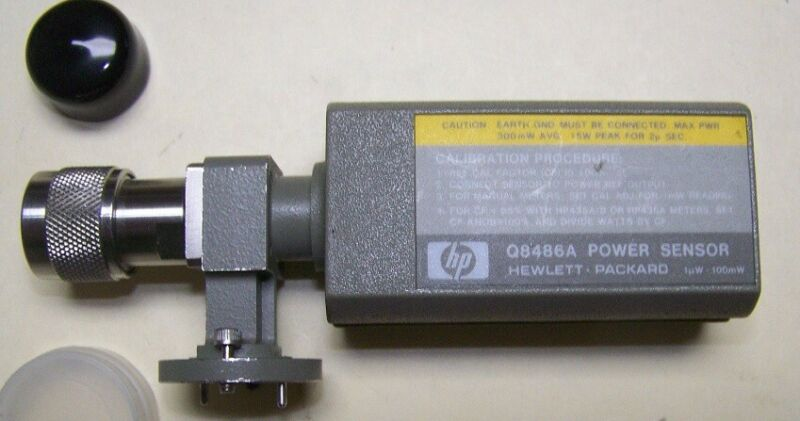HP Q8486A Waveguide power sensor WR-22 33-50GHz Q band 1uW-100mW tested working!