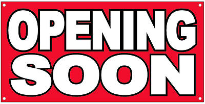 Opening Soon Vinyl Banner Grand Opening Store Coming Soon Sign 2x4 Ft - Rb
