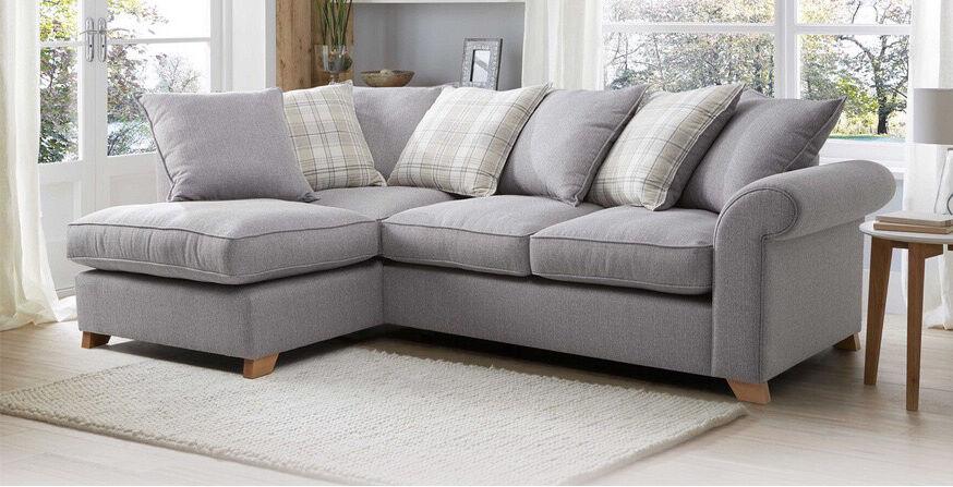 Dfs Corner Sofa Grey Tartan Material