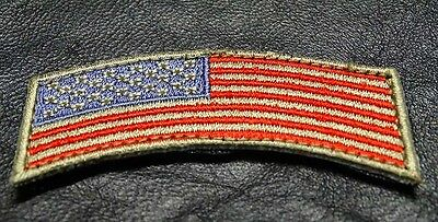 USA FLAG ROCKER TAB TACTICAL MORALE ARMY MILITARY VELCRO  PATCH