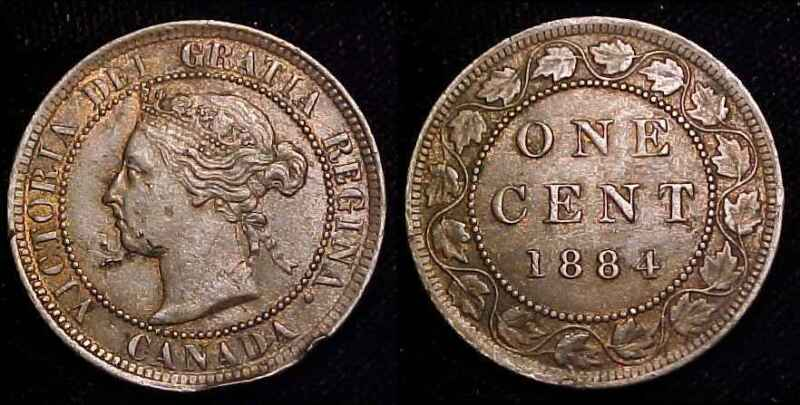 CANADA 1884 Large Cent XF+