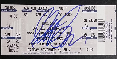 Georges St-Pierre Signed Signature Auto Autograph UFC 217 Weigh-Ins Ticket Stub for sale  Kissimmee