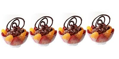 20 Small Plastic Food BOWLS - - - - party clear cup fruit  mini canape wedding - Small Clear Plastic Disposable Bowls