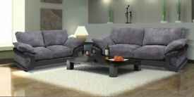 Brand New MOSS 3+2 Fabric Sofa Set On Offer