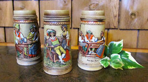 Vintage Chalkware German Steins – Only $18 for Set of Three