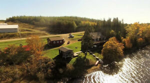 Beautiful Nova Scotia Lake front  50 Acres   Hobby Farm