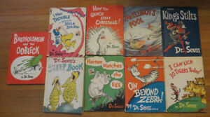 Vintage lot of 9 Dr. Seuss children's Kids Story Books