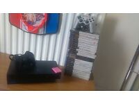 PlayStation 2, 2 controllers, leads + 24 games