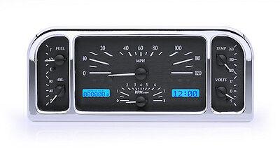 Dakota Digital 37 38 Ford Car Analog Gauge System Black Alloy Blue VHX-37F-K-B