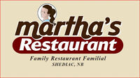 Grow with Martha: Full time grill cook and a full time server.