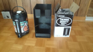 THERMAL GRAVITY POT +COFFEE CARAFE STAND